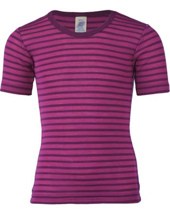 Engel Kinder Shirt/Unterhemd Kurzarm Wolle/Seide GOTS himbeere 727800-5504E
