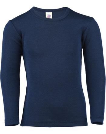 Engel Kinder Shirt/Unterhemd Langarm Schurwolle/Seide GOTS marine 707810-091