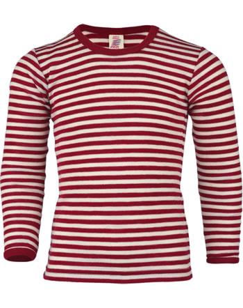 Engel Kinder Shirt/Unterhemd Wolle rot melange/natur 427810-061 IVN-Best