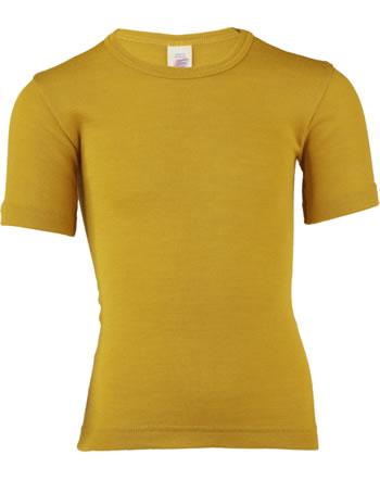 Engel Kinder Shirt/Unterhemd Kurzarm Wolle/Seide GOTS safran 707800-18E
