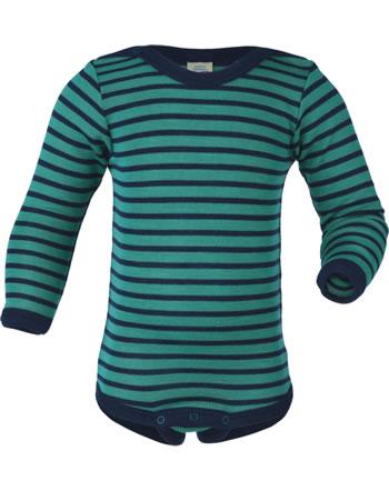 Engel Baby Body long sleeve virgin wool/silk GOTS ice blue/blue 729030-3533E