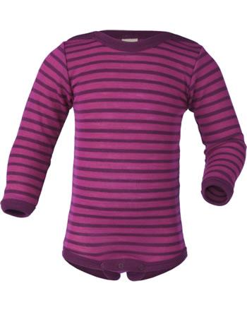 Engel Baby Body long sleeve virgin wool/silk GOTS raspberry/orchid 729030-5504E