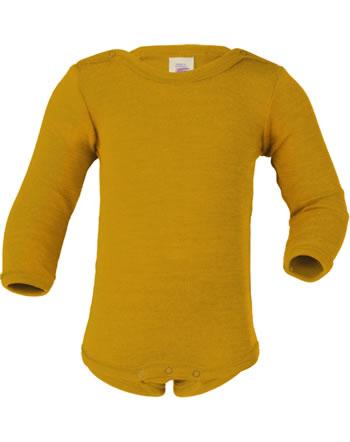 Engel Langarm-Body Wolle/Seide safran 709030-18E GOTS