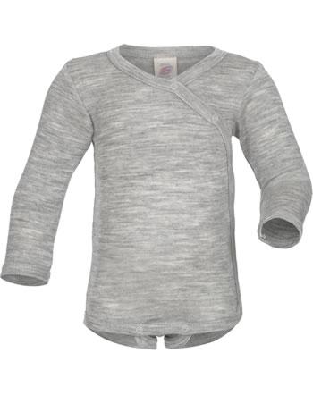 Engel Bodysuit light grey melange 709510-091 GOTS