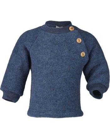 Engel Raglan-Pullover m. Holzknöpfe blau melange 575410-080 IVN-BEST