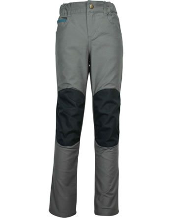 Finkid 5-Pocket Pants with reinforced knees KUUSI CANVAS charcoal 1352022-701000
