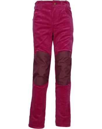 Finkid 5-Pocket Corduroy Pants with Knee Facing KUUSI persian red/red 1352009-247200
