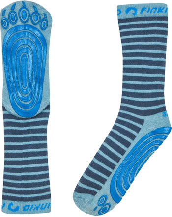 Finkid Basic Striped Gripsocks TAPSUT navy/smoke blue1652005-100152