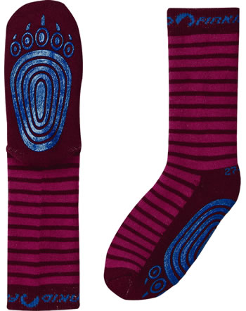 Finkid Basic Striped Gripsocks TAPSUT persian red/cabernet 1652002-247249