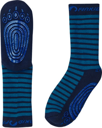 Finkid Basic Striped Gripsocks TAPSUT seaport/navy 1652002-102100