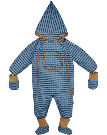 Finkid Baby Winter-Overall HALI pebbles blue/cinnamon 1213001-164416