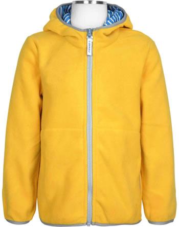 Finkid Essentials Fleecejacket Zip in PAUKKU yellow/storm 1121003-607542