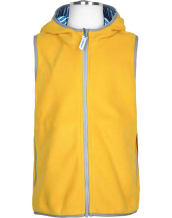 Finkid Essentials Fleecevest Zip in POPPELI yellow/storm 1181003-607542
