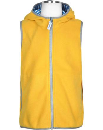 Finkid Essentials Fleeceweste Zip in POPPELI yellow/storm 1181004-607542