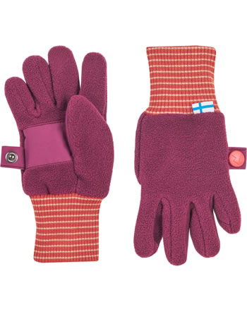 Finkid Fleece Finger-Handschuhe SORMIKAS beet red/chili 1632016-259202