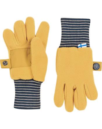 Finkid Fleece Gants SORMIKAS golden yellow/navy 1632016-609100