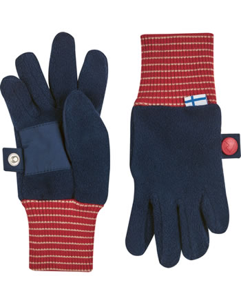 Finkid Fleece Finger-Handschuhe SORMIKAS navy/red 1632010-100200