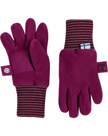 Finkid Fleece Finger-Handschuhe SORMIKAS persian red/cabernet 1632003-247249