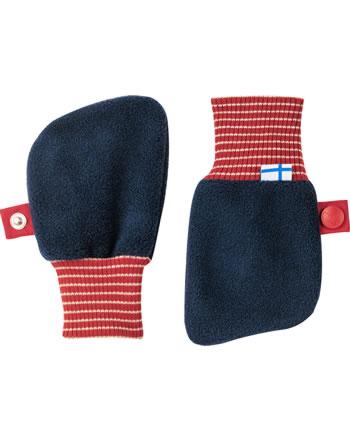 Finkid Fleece Handschuhe Fäustlinge NUPUJUSSI navy/red 1632009-100200