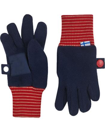 Finkid Fleece Finger-Handschuhe SORMIKAS navy/red 1632003-100200