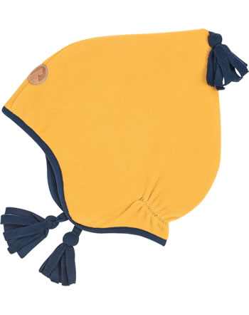 Finkid Fleece Zipfelmütze PIPO golden yellow/navy 1612033-607100