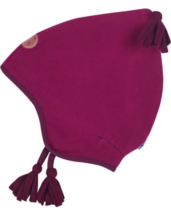 Finkid Fleece Zipfelmütze PIPO persian red/cabernet 1612003-247249