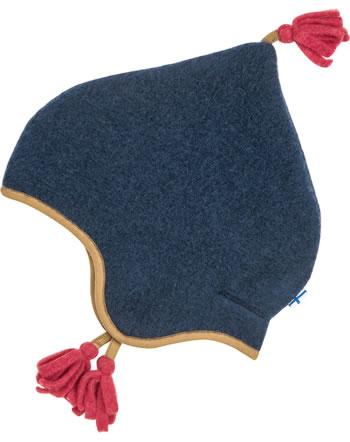 Finkid Fleece Zipfelmütze PIPO WOOL navy 1612041-100000