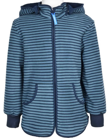 Finkid Fleecejacket Zip-In TONTTU STRIPED blue mirage/navy 1122014-148100