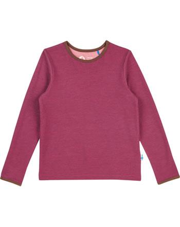 Finkid Function T-Shirt longsleeve TAAMO WOOL beet red/cocoa 1532015-259507