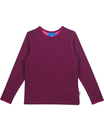 Finkid Function T-Shirt longsleeve TAAMO WOOL cabernet/persian red 1533001-249247