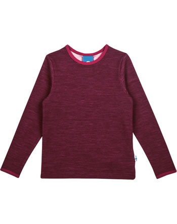 Finkid Funktions-T-Shirt TAAMO WOOL cabernet/persian red 1533003-249247