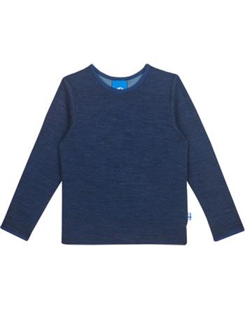Finkid Function T-Shirt longsleeve TAAMO WOOL navy/denim 1533003-100113