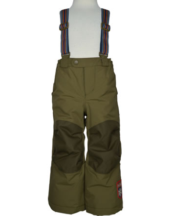 Finkid Reinforced Padded Outdoor Pants ROMPPA PLUS ivy green 1312005-332000