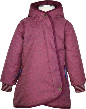Finkid Girls Wintermantel LIKKA ICE beet red/eggplant 1142016-259260