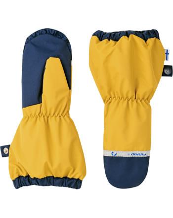 Finkid Handschuhe Fäustlinge PAKKANEN golden yellow/navy 1632014-609100