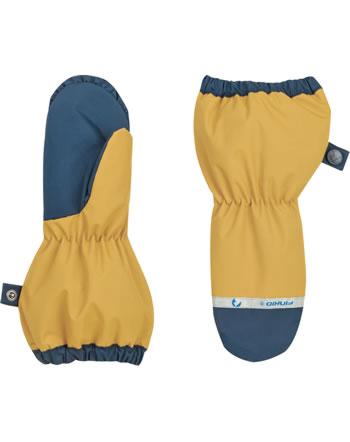Finkid Handschuhe Fäustlinge PAKKANEN golden yellow/navy 1632018-609100