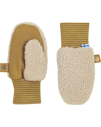 Finkid Handschuhe NUPUJUSSI TEDDY pebble/cinnamon 1632015-443416