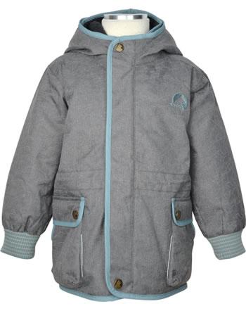 Finkid Jungen Outdoorjacke 2 in 1 KAMU ICE charcoal/smoke blue 1132009-701152