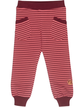 Finkid Cozy Striped Leggings HUVI rose/cabernet 3067008-206249