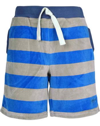 Finkid Nicky Hose kurz Streifen LELU blue/pebble 1343002-103443