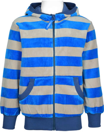 Finkid Veste Nicky avec capuche Zip in NIKKI blue/pebble 1123001-103443
