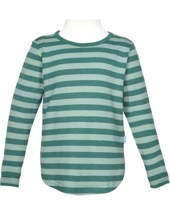 Finkid Shirt aus Bambusjersey Langarm MERISILLI deep teal/trellis 1533005-330158