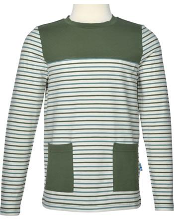 Finkid Shirt Langarm MATRUUSI bronze green/charcoal 1532012-333701