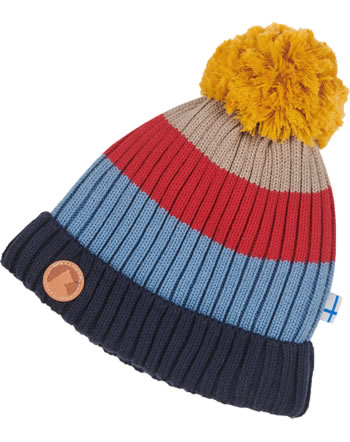 Finkid Knitted Beanie Colorblocking POMPULA blue mix 1612010-168000