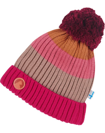 Finkid Knitted Beanie Colorblocking POMPULA rose mix 1612010-254000