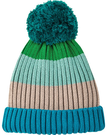 Finkid Knitted Beanie Colorblocking POMPULA seaport/trellis 1612025-102158