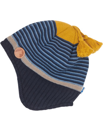 Finkid Knitted Striped Hat TIPI blue mix 1612009-168000