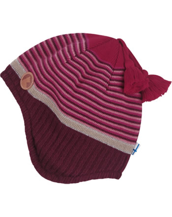 Finkid Knitted Striped Hat TIPI red mix 1612009-257000
