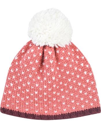 Finkid Bonnet en laine PEKONI rose/off white 1612036-206406