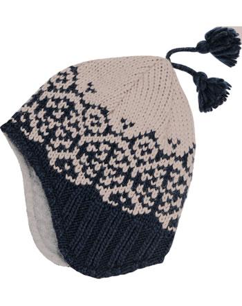 Finkid Bonnet en laine PEPPI navy/pebble 1612037-100443